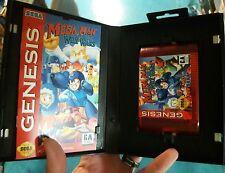 Sega Genesis Megaman Wily Wars, custom red cart, box, manual. Professional label