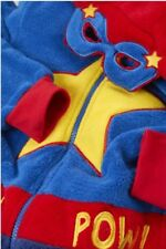 Super Cute Superhero fleece outfit with Hood and Cape