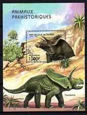 Animaux préhistoriques Guinée (5) bloc oblitéré