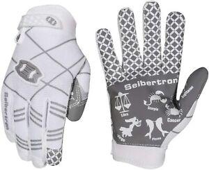 Seibertron Football PRO 3.0 White Youth Gloves Size Small