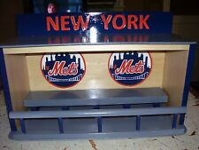 New York Mets display case for bobbleheads  Dugout style  Read add & see pics