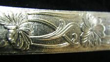925 STERLING Silver Bezel Strip Wire FLORAL GARDEN Pattern 1 FOOT 100% Recycled