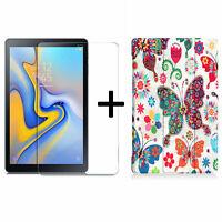 2in1 Set für Samsung Galaxy Tab A 10.5 SM-T590 T595 Schutzglas + Hülle Case Etui