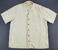 Tommy Bahama 100% Silk Short Sleeve Hawaiian Pocket Shirt Men's Size Large L