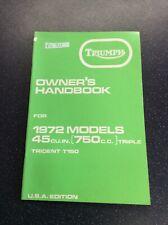 Triumph Trident 1972 T150 Handbook