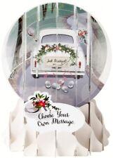 Schneekugel Karte Hochzeit Grußkarte PopShot Honymoon Auto 9x13cm