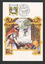 GUERNSEY MK 1986 WEIHNACHTEN CHRISTMAS NAVIDAD CARTE MAXIMUM CARD MC CM d9184