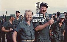 JOHN WAYNE army uniform VIETNAM VETERANS Rare Candid Photo GREEN BERETS