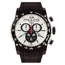 Mulco MW1-29878-021 White Dial Black Silicone Band Unisex Swiss Quartz Watch