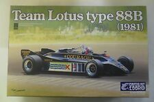 EBBRO 1:20 KIT DA COSTRUIRE IN PLASTICA TEAM LOTUS TYPE 88B 1981  ART 010 6800