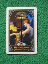 Gene Pressler Art Deco 1927 Flapper Pinup Girl Westinghouse Mazda Lamp Swap Card