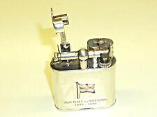 DUNHILL LIFTARM LIGHTER W. ENAMEL MOTIVE - 925 STERLING SILVER - LONDON - 1934
