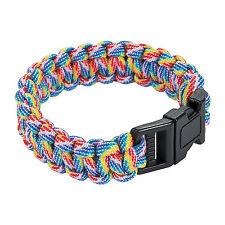 Survival Bracelet Paracord Flint Scraper Whistle Cutting Tool 7 Colors Available