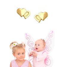 Mädchen Herz Ohrstecker Kinder Zwei Herzen Stecker Ohrringe Echt Gold 585 14 Kt