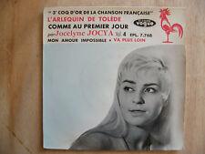"""EP JOCELYNE JOCYA """"L'arlequin de Tolède""""+3 Vogue EPL 7768"""