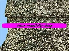 Feinstrick mit Leopardmuster in beige schwarz, 1 Meter, 160 cm breit, Meterware