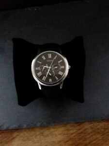 GUESS Gents silver watch with black dial W1130G1