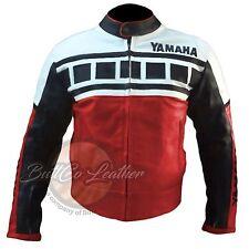 YAMAHA 6728 rouge Moto Motard Cuir de vachette véritable protection veste
