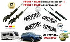 FOR VW TOUAREG 2002->NEW FRONT + REAR 4 SHOCK ABSORBERS SET + 4 COIL SPRINGS KIT