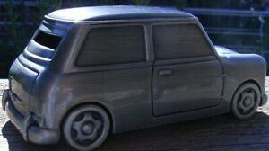 PEWTER MINI COOPER  MONEY BOX MR BEAN CAR