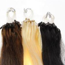 Echthaar Microring Loop Extensions Remy Haarverlängerung   40cm 50cm 60cm 0,5g