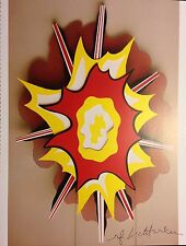 """BOLD ROY LICHTENSTEIN """" EXPLOSION """" * PRINT * 1994 * HAND SIGNED WITH C.O.A."""