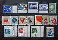 Liechtenstein 1964 1965 1966 1967 Europa 1964 Arms Historian Painter Church MNH