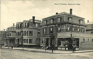 A View of Bean's Pharmacy, Somerville MA
