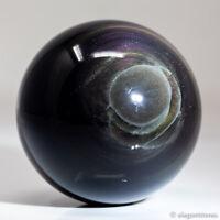 175g 52mm Natural Rainbow Obsidian Quartz Crystal Sphere Healing Ball Chakra