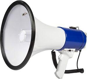 Professional 1000 Meter Range 25W Super Loud Megaphone with Siren & Microphone