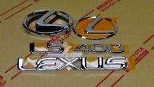 NEW LEXUS LS400 CHROME COMPLETE EMBLEM KIT 1995 1996 1997 1998 1999 2000