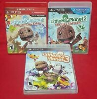 Little Big Planet 1 2 3 Trilogy -  Playstation 3 PS3 Game Tested Working