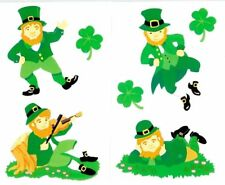 ~ Retired NLA Leprechauns Shamrock Dancing Luck of Irish Mrs Grossman Stickers ~