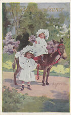 """Girls Wearing White Dresses, Mule, """"With Kind Remembrance"""", PU-1909"""