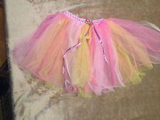 Girls Play Dress Up Tutu Skirt Sheer OSFA Yellow Pink White