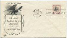 1954 FDC, WOODROW WILSON, $1.00 PRESIDENTIAL SERIES,REISSUE