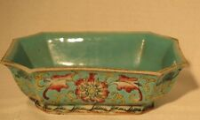 Early 20th Century Chinese  Enameled Rectangle Porcelain Bowl