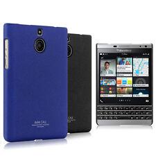 IMAK Frosted Cowboy Back Case Skin For BlackBerry PasSilver Edition Color Black