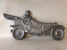Cast Aluminum Mailbox Topper Antique Car w/ Driver Convertible Vintage