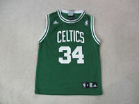 Adidas Kevin Garnett Boston Celtics Basketball Jersey Youth Medium Green White