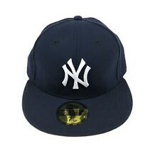 New York NY Yankees MLB Navy Blue New Era 59Fifty Flat Fitted Hat Cap 7 1/8