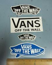 VANS surf snowboard skateboard BMX promo 4 sticker set NEW old stock Flawless
