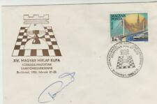 Échecs Chess Schach Lajos PORTISCH - signed / autograph / FDC cover