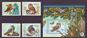 HUNGARY - 2017. Fauna of Hungary - Owls - Set + Souvenir Sheet - MNH