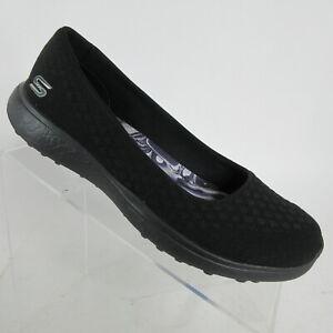 Skechers Microburst One Up Black Memory Foam Flats Womens Size 23312 Womens Sz 9