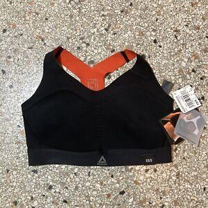NWT Women's Reebok Puremove Black/Red Wire Free Sports Bra Size XS/S