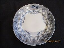 "VICTORIAN FORD & SONS 'ARGYLE' FLOW BLUE 9.5"" DINNER PLATE c.1893-1908 EX"