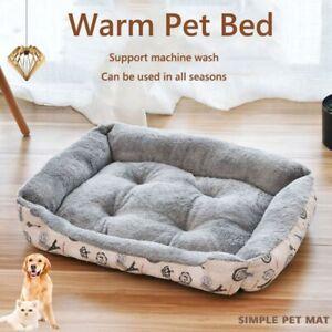 Large Puppy Pet Dog Cat Bed Kennel Fleece Warm House Mat Basket Cushion Pad Sofa