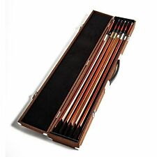 SKY High Density Wood Bow Case for Six(6) Violin/Viola/Cello Bows Strong Brown
