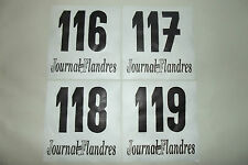 (36) 4 ANCIEN DOSSARD DE COUREUR CYCLISTE COURSE TOUR VÉLO FLANDRES FRANCE 1970